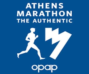 Athens Marathon. The Authentic logo on RaceRaves