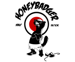 Honey Badger Half, 10K & 5K logo on RaceRaves
