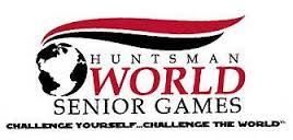 Huntsman World Senior Games 5K and Half Marathon logo on RaceRaves