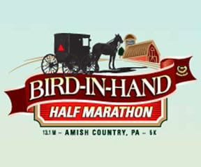 Bird in Hand Half Marathon & 5K logo on RaceRaves