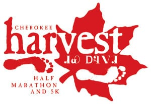 Cherokee Harvest Half Marathon & 5K logo on RaceRaves
