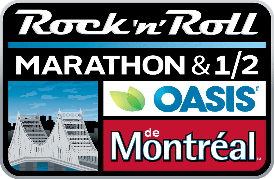 Rock 'n' Roll Oasis Montreal Marathon & 1/2 Marathon logo on RaceRaves