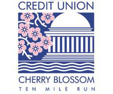 Credit Union Cherry Blossom Ten Mile Run logo on RaceRaves