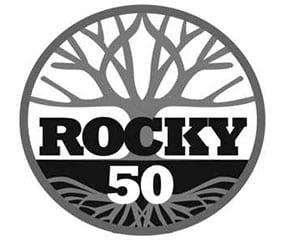 Tejas Trails Rocky 50 logo on RaceRaves