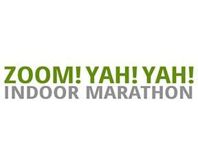 Zoom! Yah! Yah! Indoor Marathon logo on RaceRaves