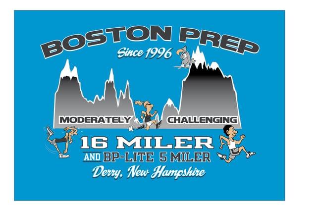 Boston Prep 16 Miler & 5 Miler logo on RaceRaves
