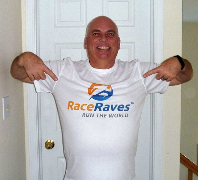 Mike Knapp displaying his Raving Lunatics pride