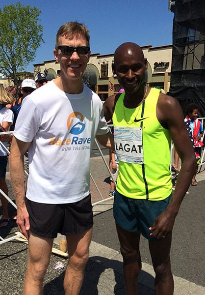 Mike Sohaskey meets Bernard Lagat
