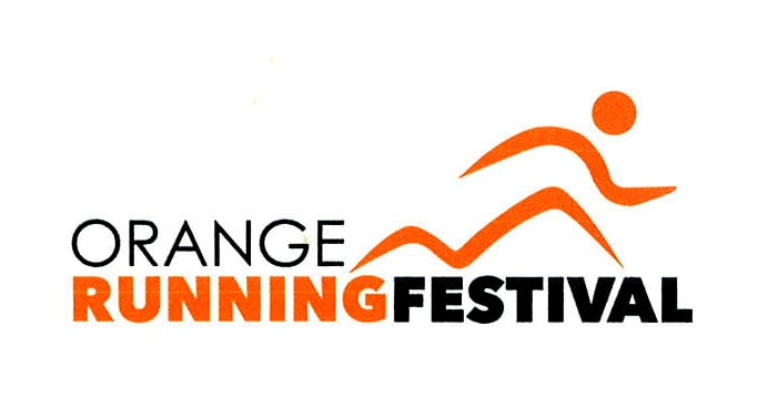 Orange Running Festival logo on RaceRaves