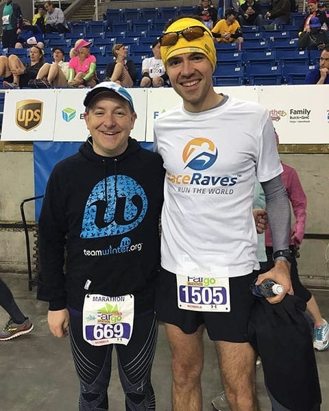 Wally Hines meets Dan Solera at the Fargo Marathon 2015