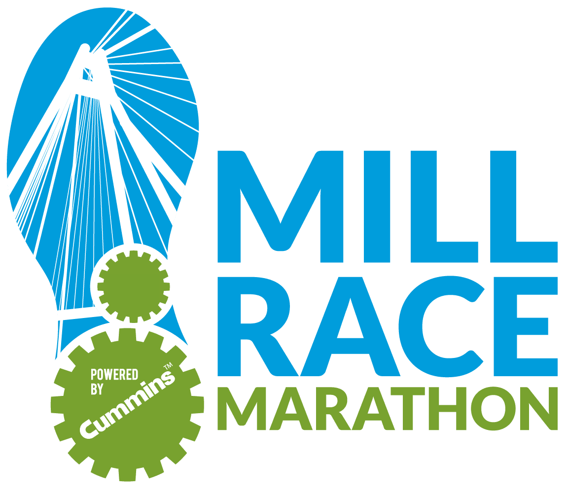 Mill Race Marathon & Half Marathon logo on RaceRaves