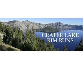 Crater Lake Rim Runs logo on RaceRaves