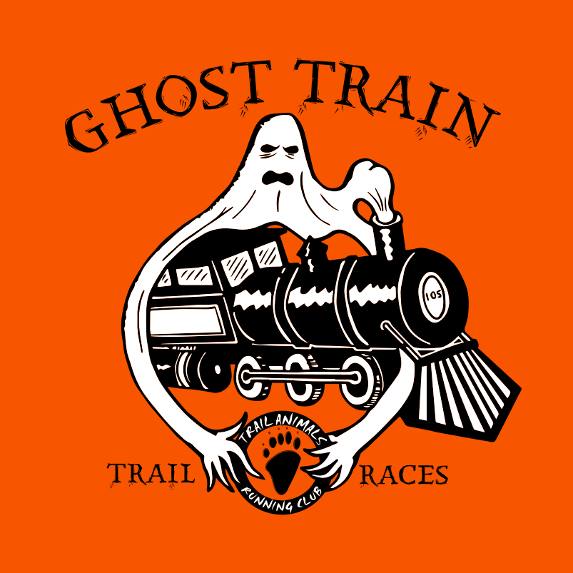 Ghost Train Rail Trail Race logo on RaceRaves
