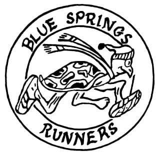 Blue Springs Runners' 50/50 (aka Longview Lake Trail Runs) logo on RaceRaves