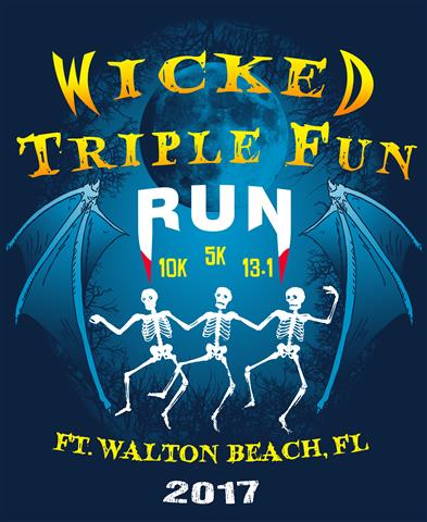 Wicked Triple Fun 1/2 Marathon logo on RaceRaves