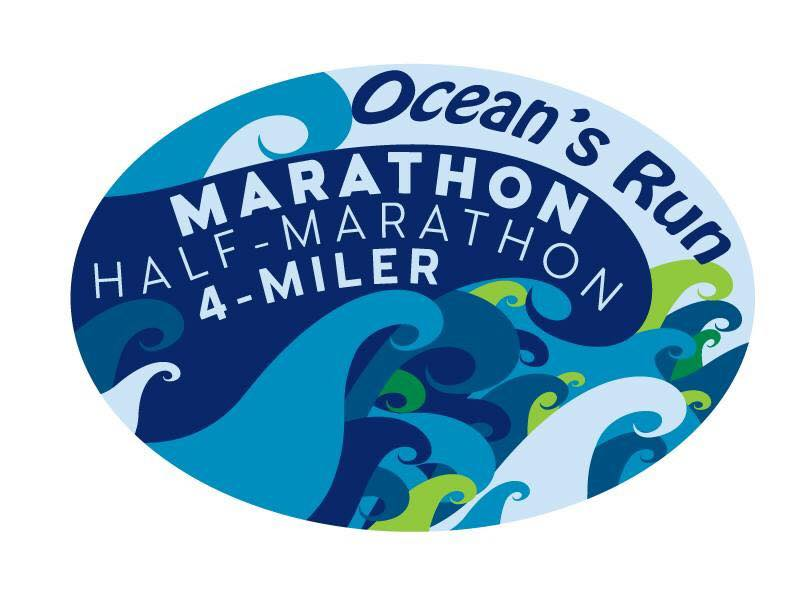 Ocean's Run Marathon & Half Marathon logo on RaceRaves