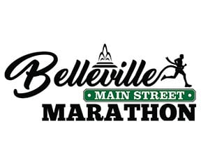 Belleville Main Street Marathon logo on RaceRaves