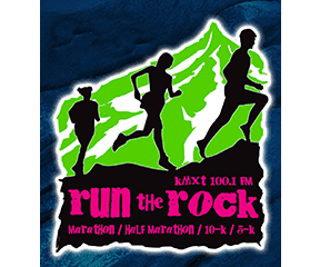 KMXT's Run the Rock logo on RaceRaves