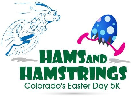 Hams and Hamstrings 5K logo on RaceRaves