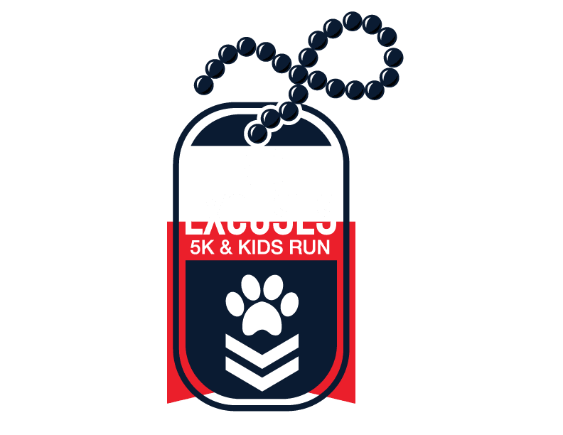 Buzz Oates No Excuses 5K logo on RaceRaves