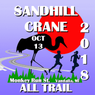 Sandhill Crane All Trail Half Marathon, 10K & 5K logo on RaceRaves