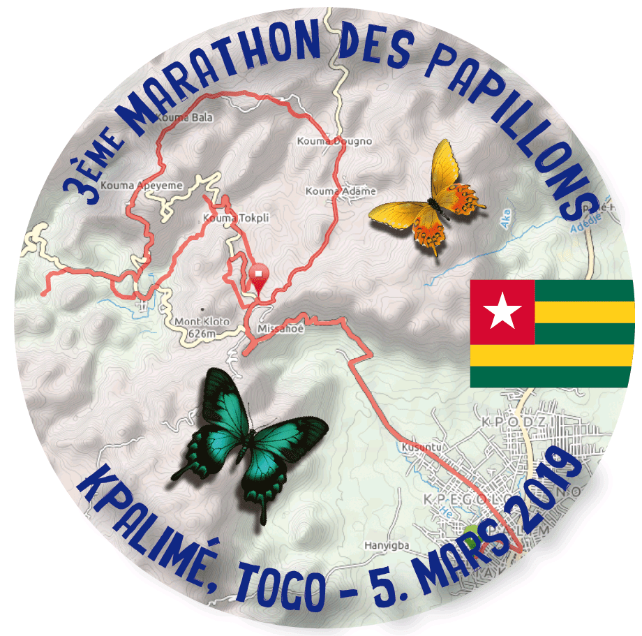 Trail Marathon des Papillons logo on RaceRaves