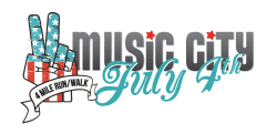 Music City July 4th 4 Mile Run/Walk logo on RaceRaves