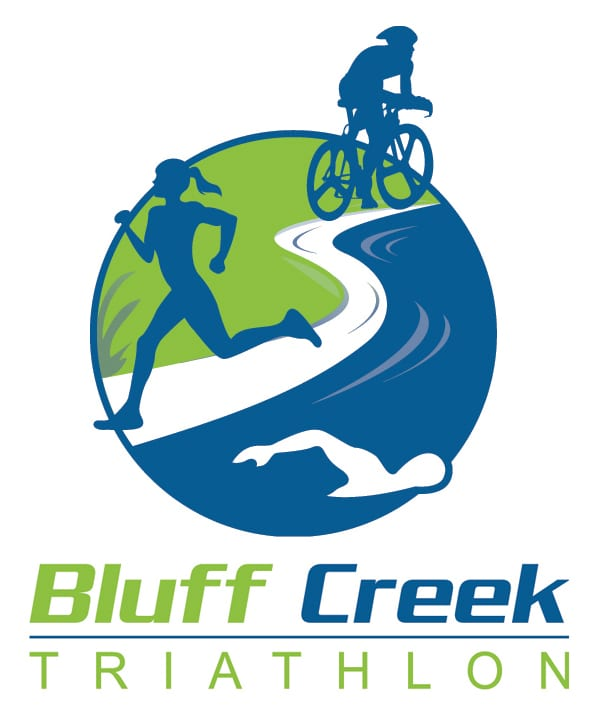 Bluff Creek Triathlon logo on RaceRaves