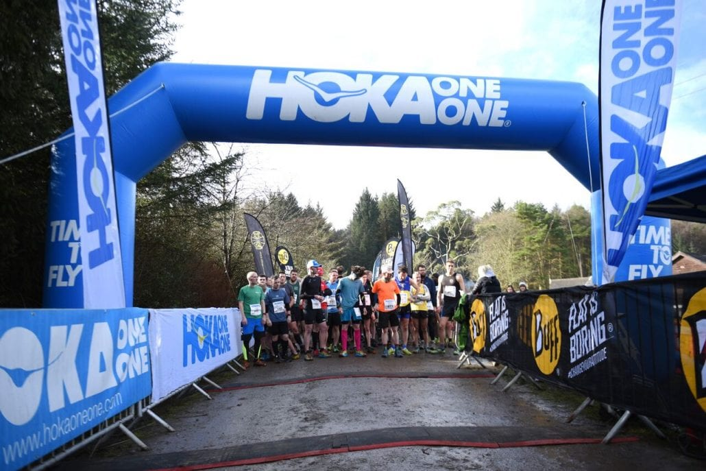 HOKA Winter Trail Wales Half Marathon logo on RaceRaves