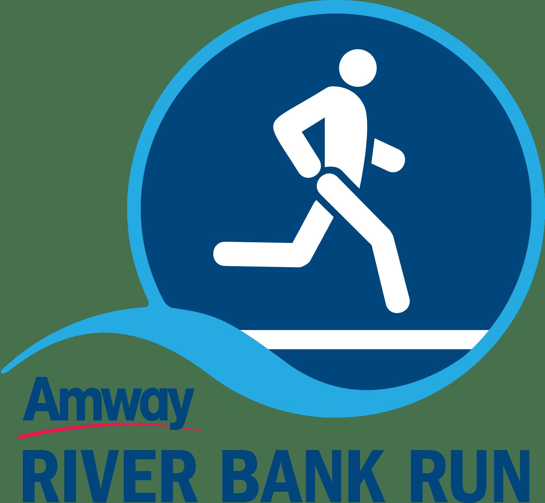 Amway River Bank Run logo on RaceRaves