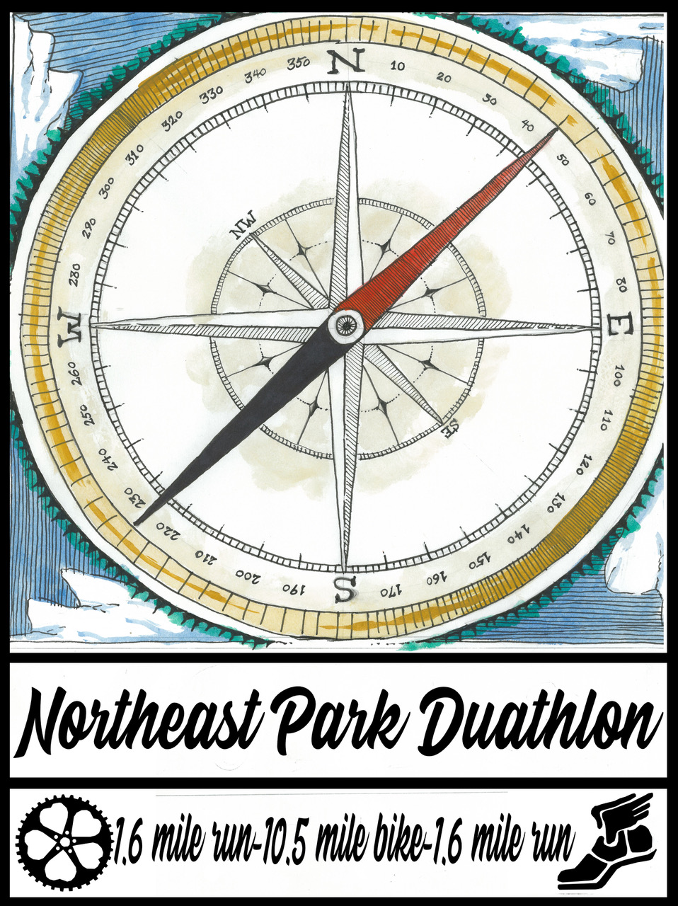 Northeast Park Duathlon logo on RaceRaves