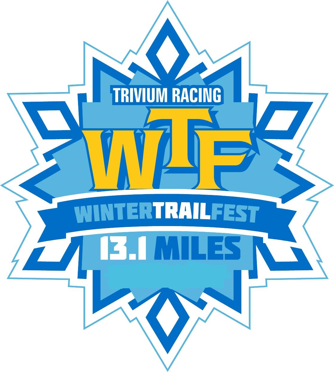 Winter Trail Fest (WTF) 13.1 logo on RaceRaves