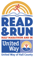 United Way of Hall County Read & Run Half Marathon and 5K logo on RaceRaves