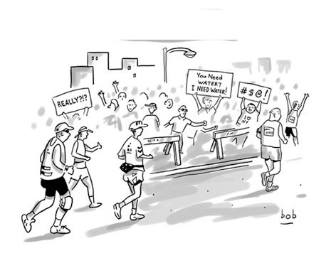 Spectator signs from The New Yorker