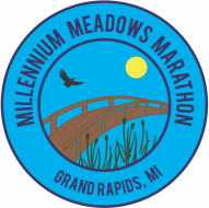 Millennium Meadows Marathon and Half Marathon logo on RaceRaves