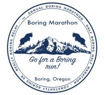 Boring Marathon, Half-Boring Half Marathon & Constantly Boring 8K logo on RaceRaves