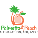Palmetto Peach Half Marathon, 10K and 5K logo on RaceRaves