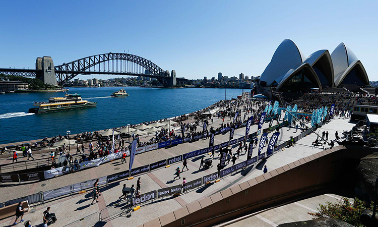 Blackmores Sydney Running Festival marathon course photo