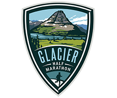 Glacier Half Marathon logo on RaceRaves