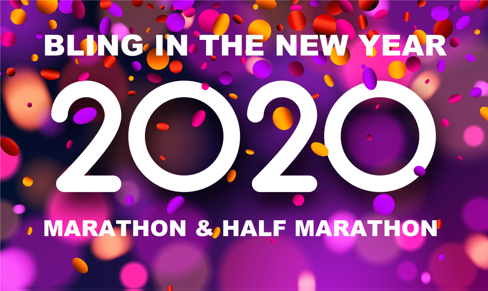 Bling in the New Year Marathon & Half Marathon logo on RaceRaves