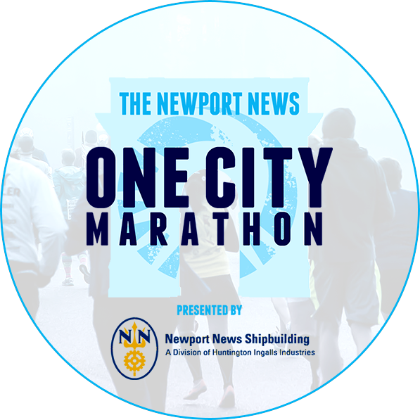 Newport News One City Marathon logo on RaceRaves
