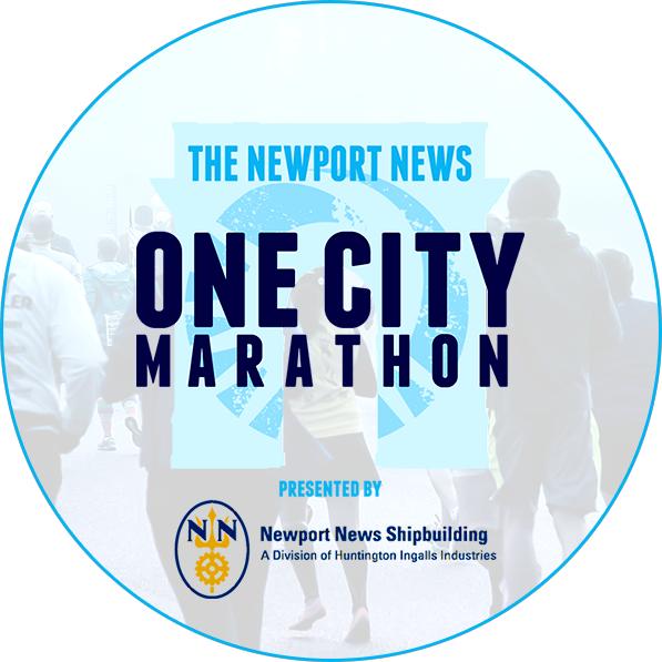 Newport News One City Marathon logo on RaceRaves