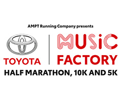 Toyota Music Factory Half Marathon, 10K & 5K logo on RaceRaves
