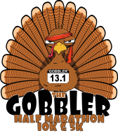 Gobbler Half Marathon logo on RaceRaves