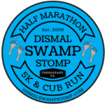 Dismal Swamp Stomp Running Festival logo on RaceRaves
