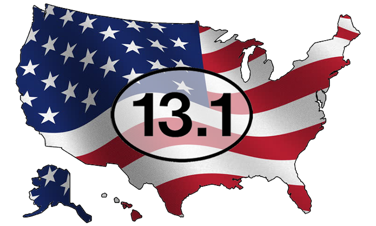 United States map with 13.1 logo