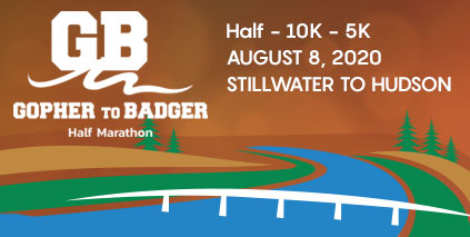 Gopher to Badger Half Marathon logo on RaceRaves