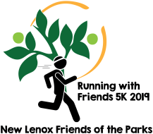 Running with Friends 5K logo on RaceRaves