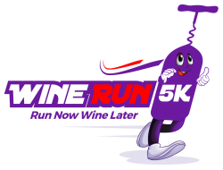 Wine Run 5K Rock N Wool logo on RaceRaves