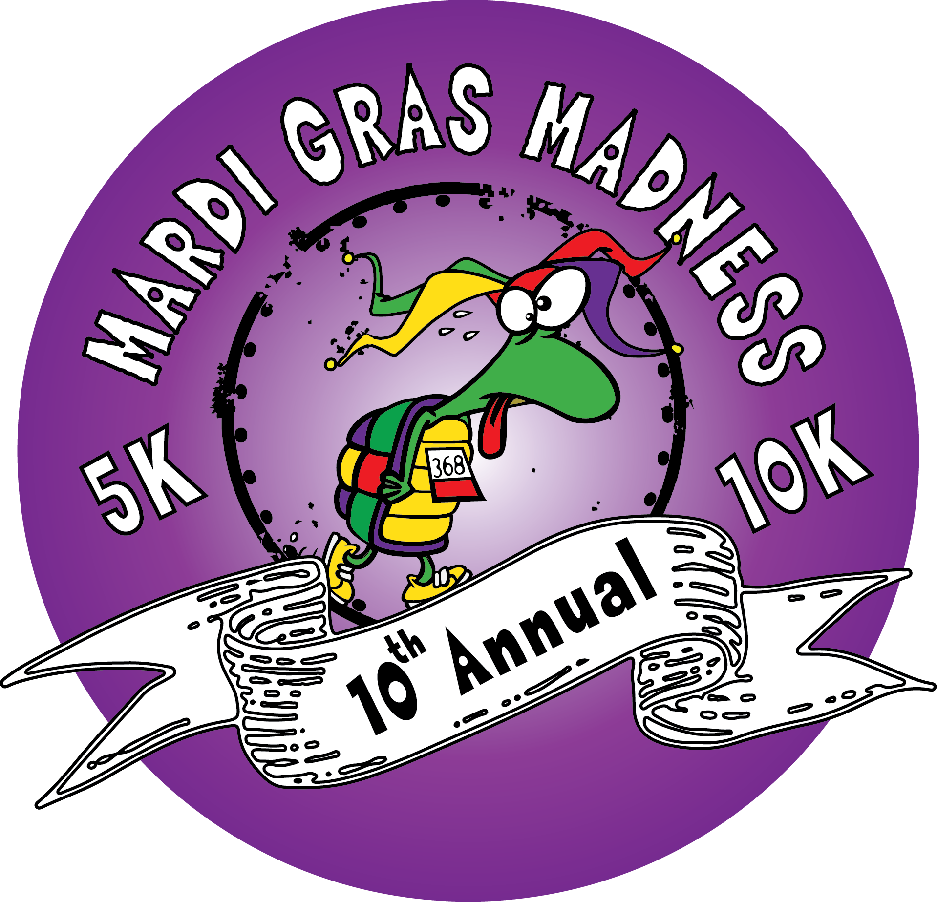 Mardi Gras Madness 5K & 10K logo on RaceRaves